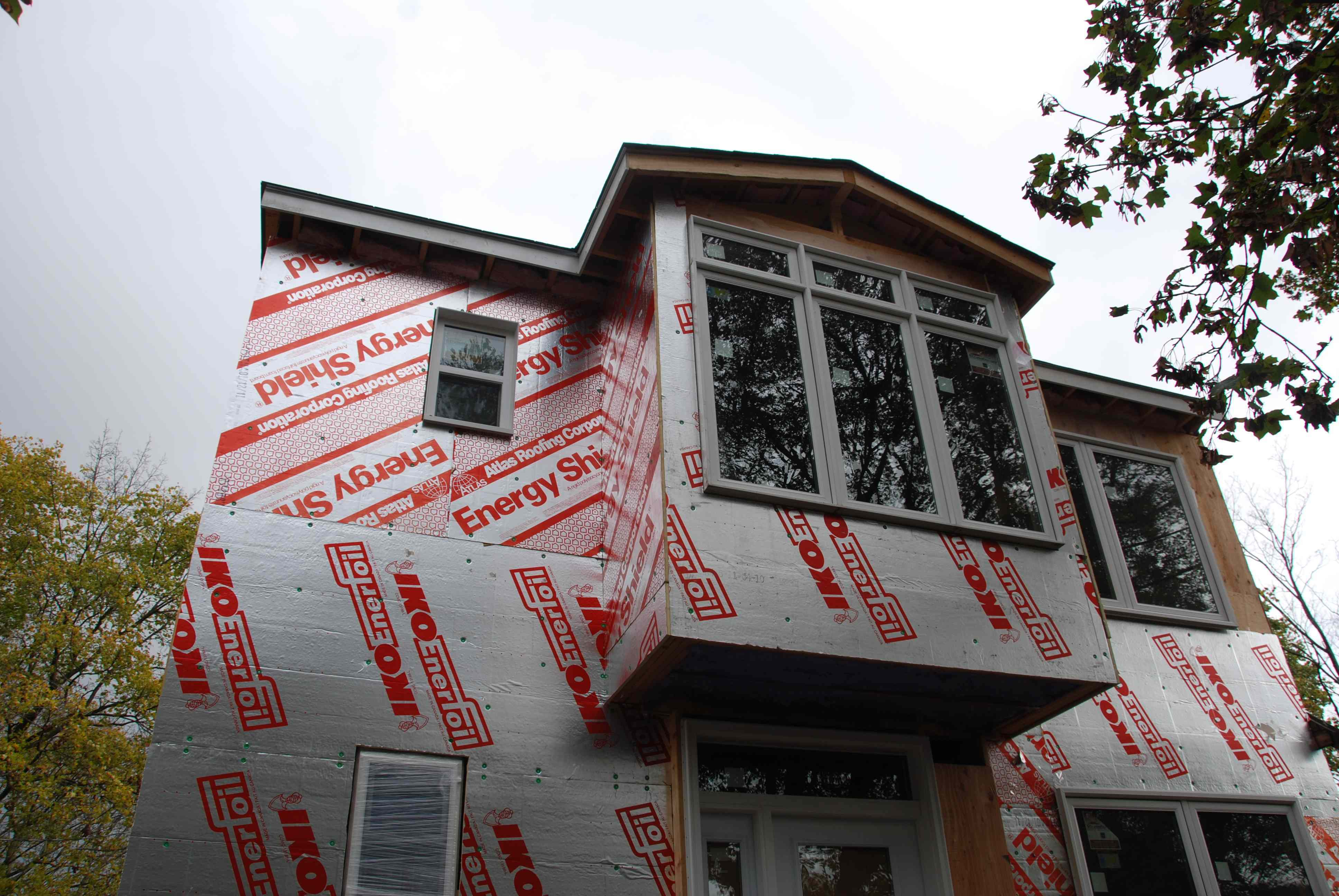 Our house reno has turned purple design community - Exterior house insulation under siding ...