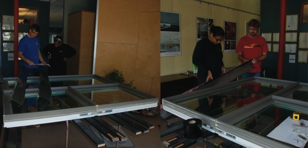 Preparation of New Window with trim and resinous tape flaps